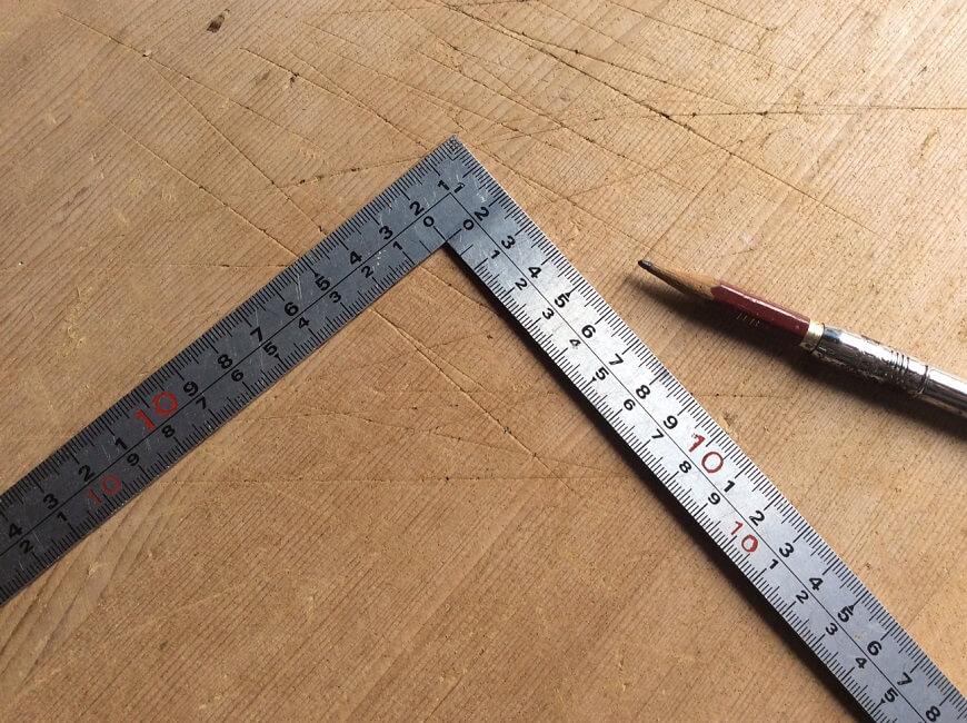 さしがねと鉛筆